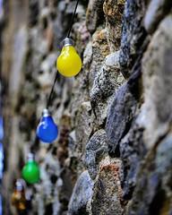 #colorful #bulb in the #street of #saintjeandugard #gard #languedoc #france   #beautifulfrance #magnifiquefrance #closeup - Photo of Colognac