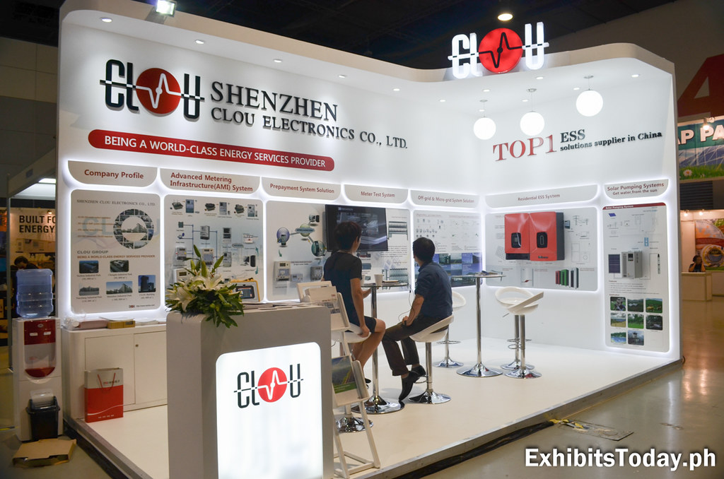 Shenzen Clou Electronics co., Ltd. Exhibit Stand