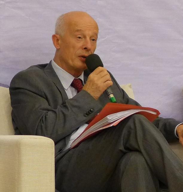 諾貝爾獎得主宣胡博(Professor Hans Joachim Schellnhuber)。攝影:陳文姿。