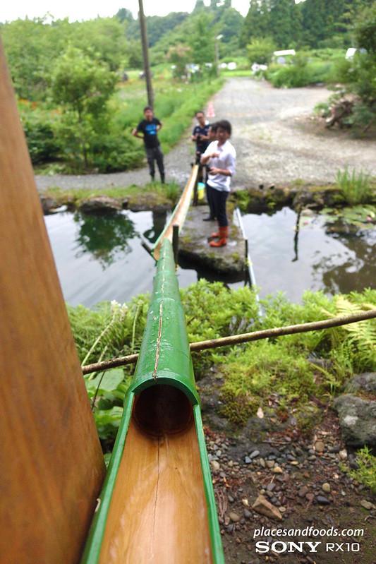 akita homestay nagashi somen bamboo