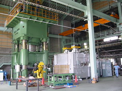 9000 ton forging press @ BBS Japan