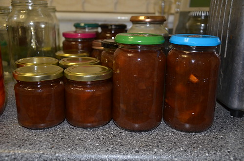 plum and apple jam Sept 15 1