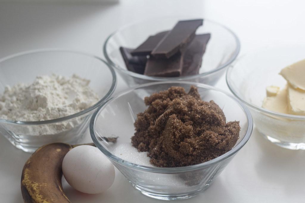 Banan brownie med chokoladestykker (1)