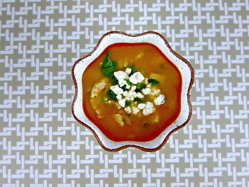 Buffalo Chicken Orzo Soup