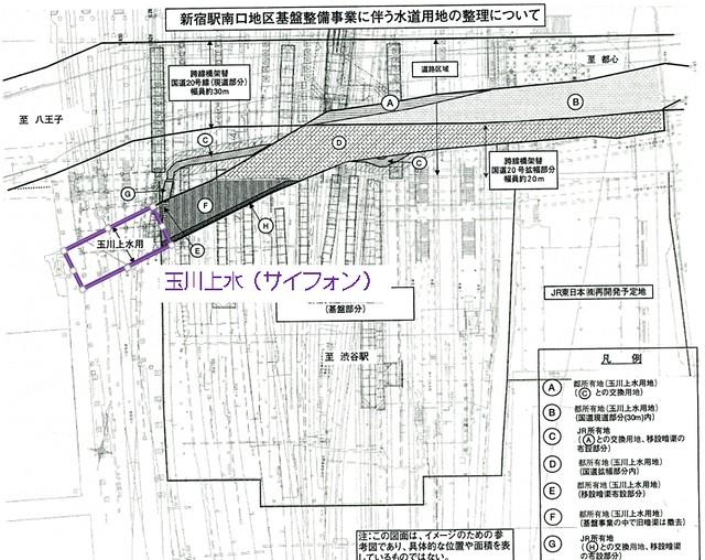 小田急新宿駅と玉川上水7