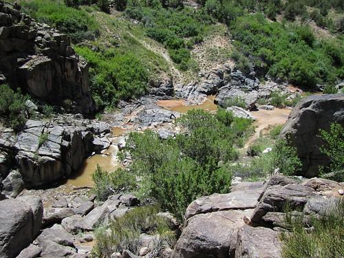 rural colorado stream canyon erosion highdesert granite geology potholes escalantecanyon escalantecreek