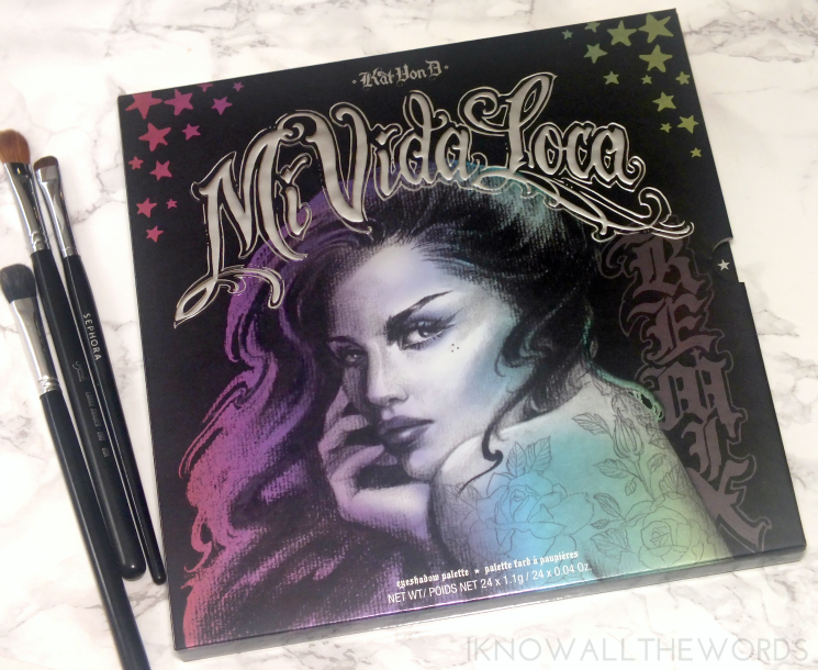 Kat Von D Mi Vida Loca Remix Eyeshadow Palette swatches review eye look (5)