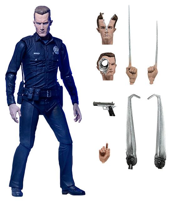 NECA【魔鬼終結者2:終極T-1000】Terminator 2 Ultimate T-1000 7 吋人偶作品
