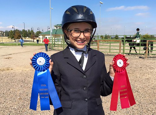 Abbie at her first competitive horse show
