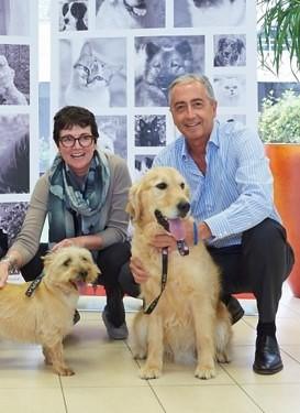 Titia de Lange with Stefan Catsicas