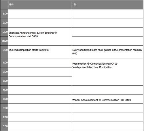 創意營時程表