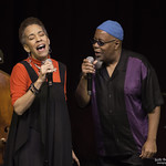 Dwight Trible 'Remembering Oscar Brown Jr.' featuring Maggie Brown and John Beasley at The Moss Theater, Saturday, November 28, 2015. Photos reproduced by Bob Barry's kind permission.
