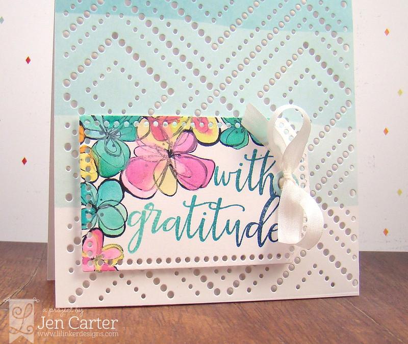 Jen Carter Ombre Tag Gratitude Closeup