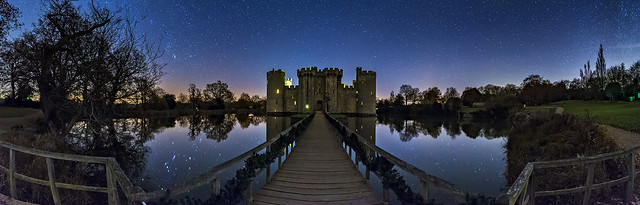 Bodiam Castle night Pano