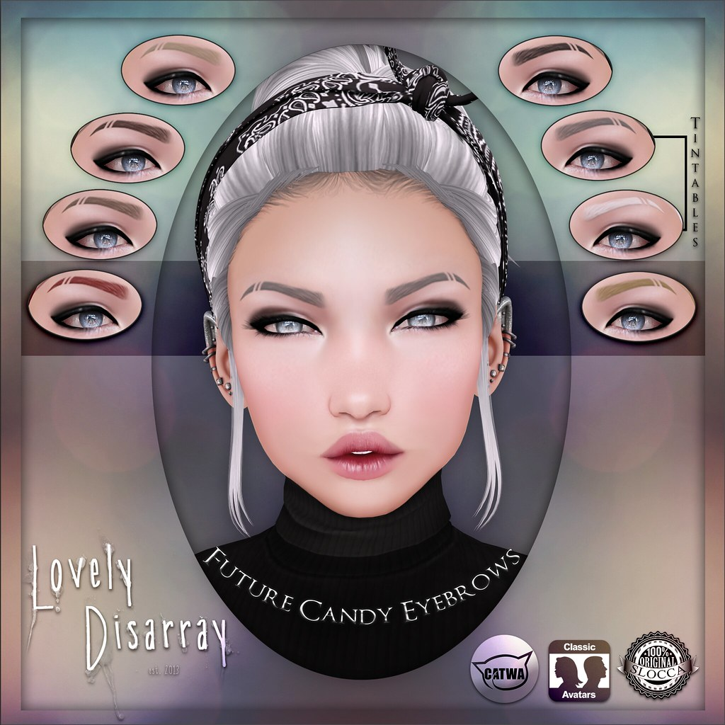 Lovely Disarray - Future Candy Eyebrows [Unisex] - SecondLifeHub.com