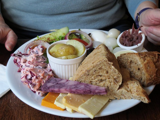 Five cheese Ploughman's lunch
