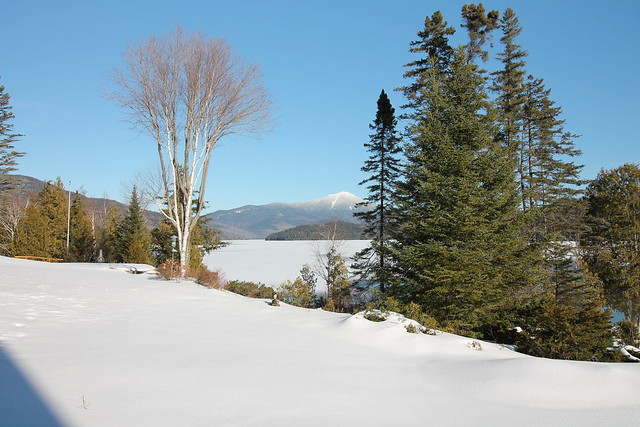 Gorgeous views of the lake and Whiteface Mountain;