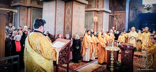 Литургия в Софийском соборе 450