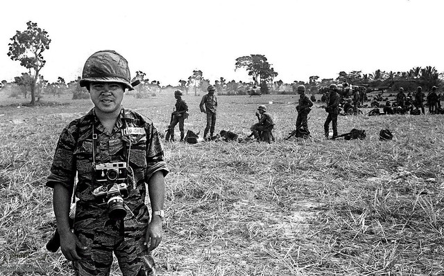 AP staff photographer Nick Ut in Vietnam during the 1970s.