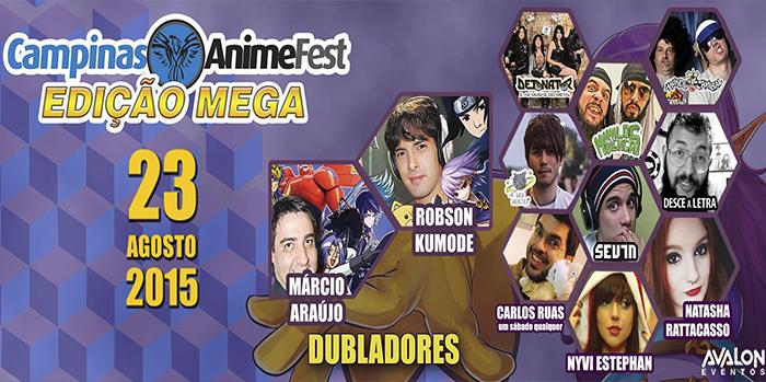 Vem aí o Campinas Anime Fest 2015 Edição Mega!!!