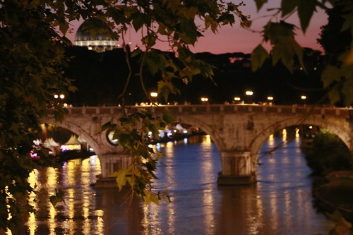 Roma: trastevere di sera
