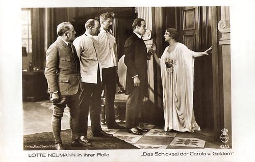 Lotte Neumann in Das Schicksal der Carola von Geldern (1919)