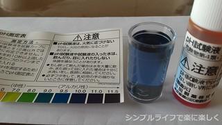 アルカリイオン浄水器、pH試験