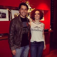 Cláudio Lins e Laila Garin... #AplausoBlogAuroradeCinema #castTvGlobo  #Babilônia