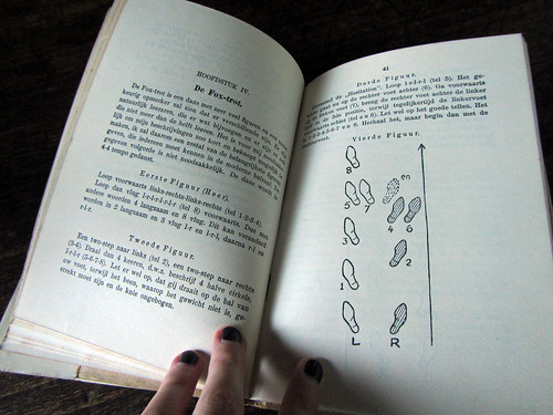 vintage book teaches how to dance
