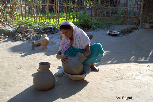 Ancient art of pottery , Majuli Island