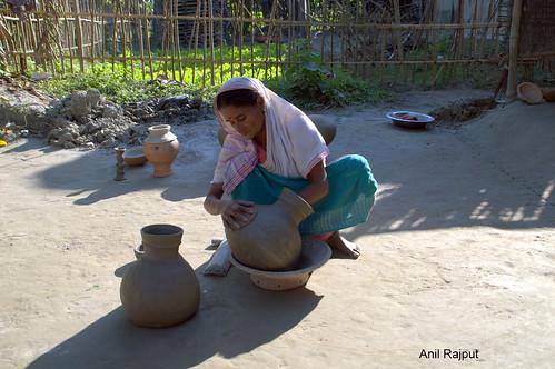 Ancient art of pottery , Majuli Island