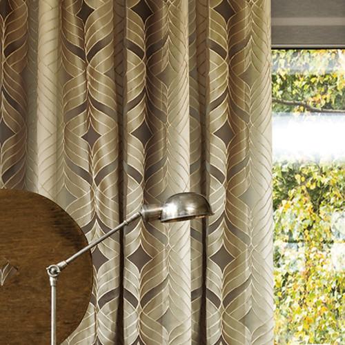 千層蝶葉(橫布直做) 雅緻漸層繡線 半遮光無縫窗簾布 DA2990007