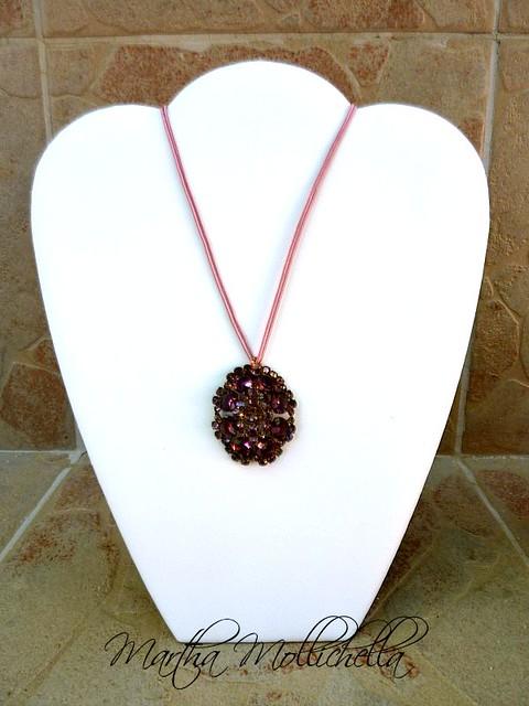 vintage pendant necklace Martha Mollichella Handmade jewelry
