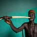 Benin, West Africa, Taneka-Koko, traditional healer called mister tcholi with his giant pipe by Eric Lafforgue