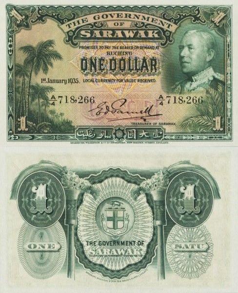 1 dolár Sarawak 1935 P20a - REPLIKA