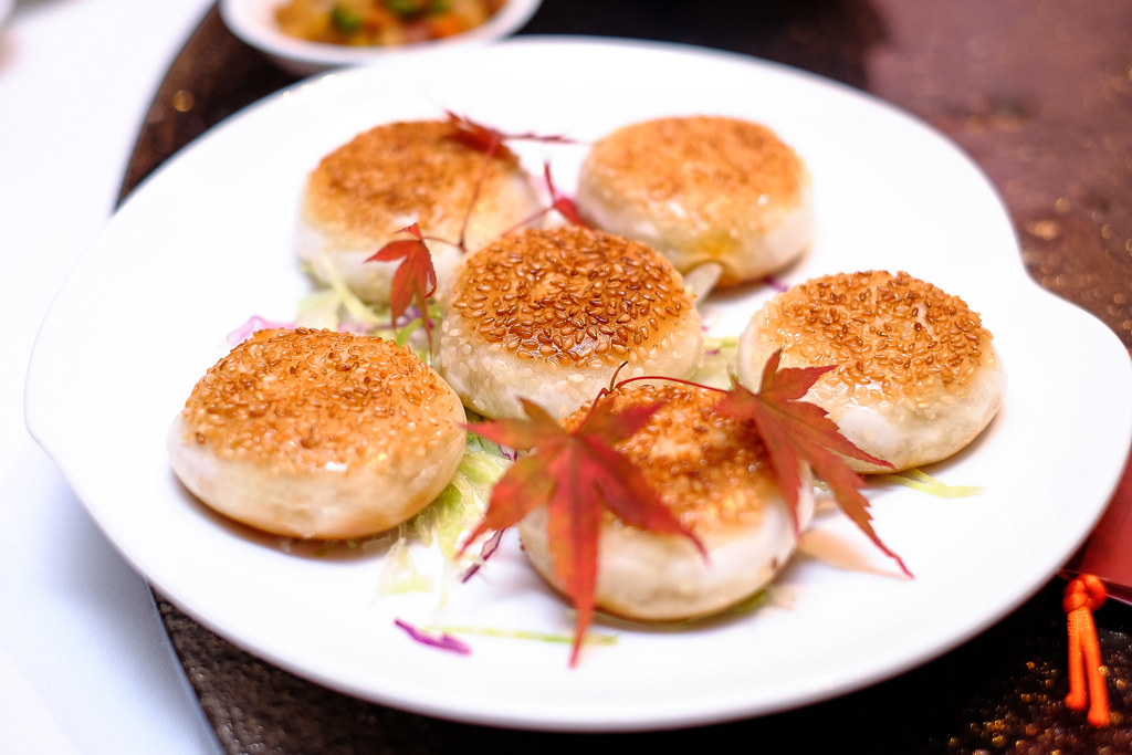 Shang Palace's Pan-Fried Chilli Crab Meat Bun