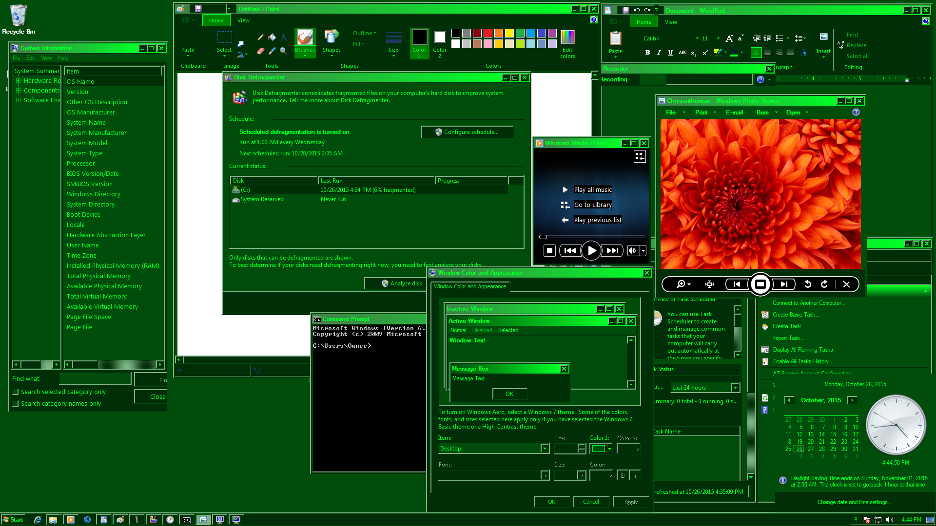 MilSpecGreen Windows 7 Apps