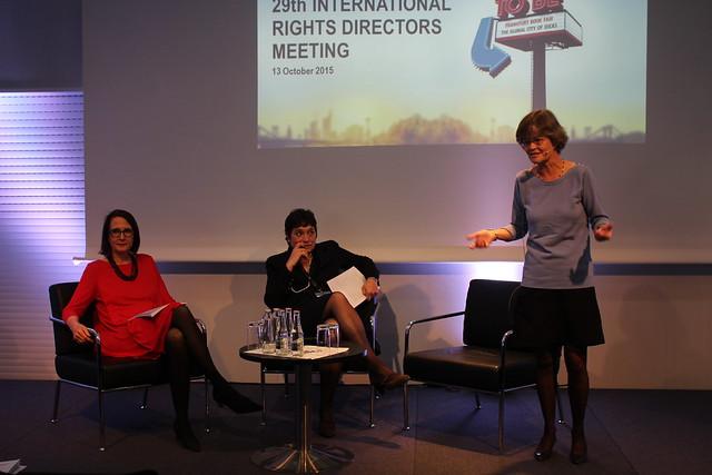 Rebecca Byers (Perrin, Edi8), Anne Michel (Albin Michel), Anne-Solange Noble (Gallimard) - Frankfurt Buchmesse