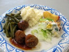 Meatball Dinner.