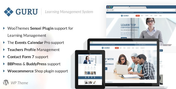 Guru v2.5 - Learning Management WordPress Theme