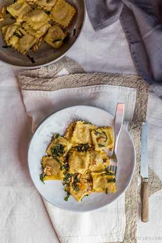 Potato and pumpkin tortelli