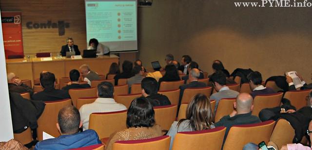 Público asistente a la jornada de AETICAL, 'Keep calm & meet people'.