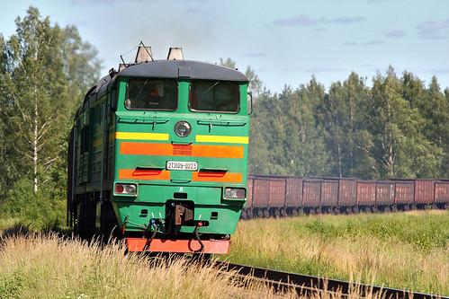 railroad train railway zug cargo latvia locomotive bahn freight lettland latvija дорога поезд железная локомотив lettonie ldz латвия dzelzceļš vilciens łotwa dzelzcels 2te10 грузовой 2тэ10 kravas 2te10u0223