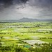 Mandalay Hill surrounded by mountainous plains and rice terraces by B℮n
