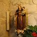 Imagen de la Virgen del Carmen en el lateral izquierdo de la Ermita de Santa Tecla