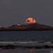 Nubble Light Moonrise by Philip Case Cohen