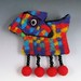 Primary Dog Brooch wet and needle felting by bjmaiee
