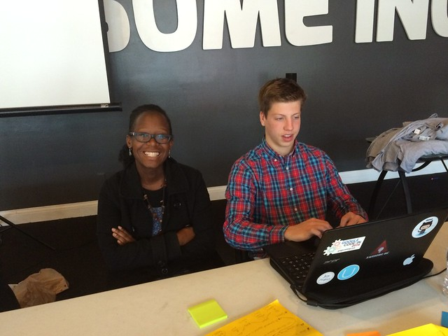 Monica and Nerf from team JobTrack