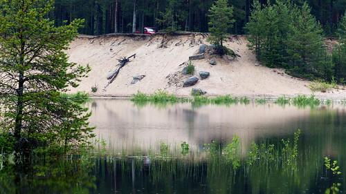 summer reflection finland geotagged pond july fin seinäjoki sandpit 2015 eteläpohjanmaa ylistaro 201507 kokkokangas 20150709 geo:lat=6307931555 geo:lon=2259020805