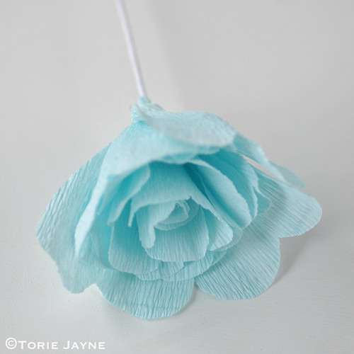 Crepe Paper Rose Tutorial 10